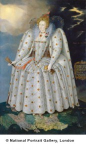 Queen Elizabeth I ('The Ditchley portrait') by Marcus Gheeraerts the Younger oil on canvas, circa 1592